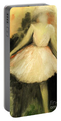 Portable Battery Charger featuring the painting In Vogue Paris by Laurie L