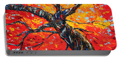 Portable Battery Charger featuring the painting In Your Light by Meaghan Troup