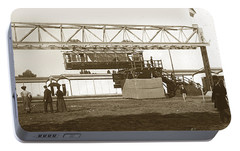 Portable Battery Charger featuring the photograph Incredible Hanging Railway  1900 by California Views Mr Pat Hathaway Archives