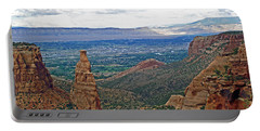 Independence Monument In Colorado National Monument Near Grand Junction-colorado Portable Battery Charger