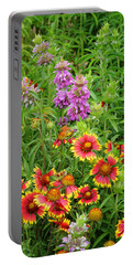Indian Blankets And Lemon Horsemint Portable Battery Charger