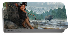Indian Hunting With Atlatl Portable Battery Charger