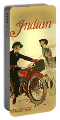 Indian Motorcycle Poster Portable Battery Charger