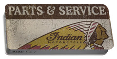 Indian Motorcycle Sign Portable Battery Charger