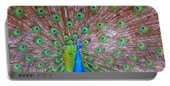 Portable Battery Charger featuring the photograph Indian Peacock by Deena Stoddard