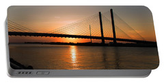 Indian River Bridge Sunset Reflections Portable Battery Charger