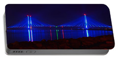 Indian River Inlet Bridge After Dark Portable Battery Charger