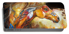 Indian War Horse Golden Sun Portable Battery Charger