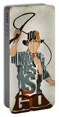 Indiana Jones - Harrison Ford Portable Battery Charger by Ayse Deniz