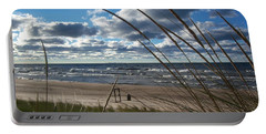 Indiana Dunes' Lake Michigan Portable Battery Charger by Pamela Clements
