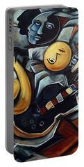 Indigo Blues Portable Battery Charger by Valerie Vescovi