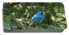 Indigo Bunting Visit Portable Battery Charger