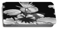 Infrared - Water Lily 02 Portable Battery Charger by Pamela Critchlow