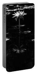 Infrared - Water Lily 03 Portable Battery Charger by Pamela Critchlow