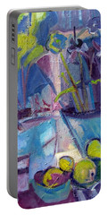 Inside And Outside Abstract Expressionism Portable Battery Charger