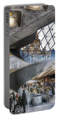 Inside The Louvre Museum In Paris Portable Battery Charger by Marianna Mills