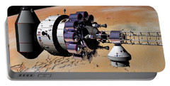 Portable Battery Charger featuring the digital art Inspection Over Mars by David Robinson