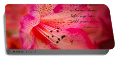 Inspirational Rhododendron Portable Battery Charger