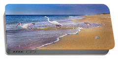 Inspiring Ibis Egret Sandpiper Starfish Sand Dollars  Portable Battery Charger