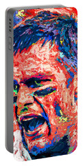 Intense By Tom Brady Portable Battery Charger by John Farr