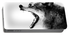 Intense Gray Wolf Portrait  Portable Battery Charger
