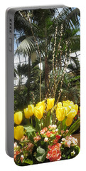 Interior Decorations Butterfly Gardens Vegas Golden Yellow Tulip Flowers Portable Battery Charger by Navin Joshi