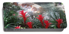 Interior Decorations Water Fall Flowers Lights Shades Portable Battery Charger by Navin Joshi