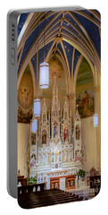 Interior Of St. Mary's Church Portable Battery Charger by Mark Dodd