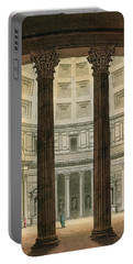 Interior Of The Pantheon, Rome Portable Battery Charger