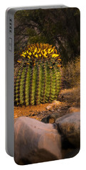 Portable Battery Charger featuring the photograph Into The Prickly Barrel by Mark Myhaver