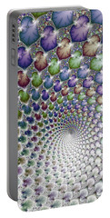 Into The Vortex Colorful Fractal Art Portable Battery Charger