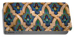 Intricate Zelji At The Hassan II Mosque Sour Jdid Casablanca Morocco Portable Battery Charger