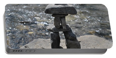Inukshuk By The Water Portable Battery Charger