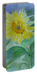 Inviting Sunflower Small Sunflower Art Portable Battery Charger