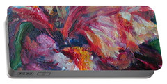 Iris - Bold Impressionist Painting Portable Battery Charger