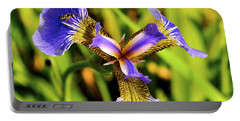 Portable Battery Charger featuring the photograph Iris by Cathy Mahnke