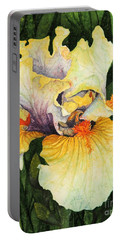 Iris Elegance Portable Battery Charger by Barbara Jewell