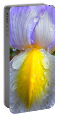 Iris Flower Petal Upclose Portable Battery Charger