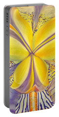 Portable Battery Charger featuring the drawing Iris by Joshua Morton