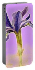 Iris On Lilac Portable Battery Charger by Barbie Corbett-Newmin