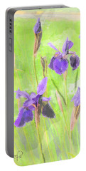Iris Purple Watercolor 13 Portable Battery Charger