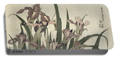 Irises And Grasshopper Portable Battery Charger