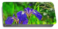 Portable Battery Charger featuring the photograph Irises by Cathy Mahnke