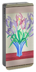 Irises Portable Battery Charger by Ron Davidson