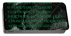 Irish Blessing Stitched In Time Portable Battery Charger by LeeAnn McLaneGoetz McLaneGoetzStudioLLCcom