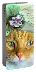 Irish Cat Portable Battery Charger by Michele Avanti
