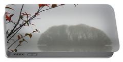 Irish Crannog In The Mist Portable Battery Charger