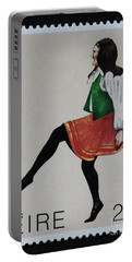 Irish Music And Dance Postage Stamp Print Portable Battery Charger