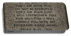 Isaiah 41 10 Portable Battery Charger