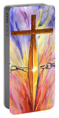 Isaiah Sixty One Verse One Portable Battery Charger by Nancy Cupp